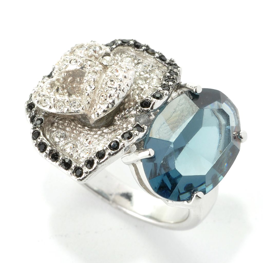 136-166 - Adaire™ Sterling Silver Flower Ring Made w/ Swarovski® Elements