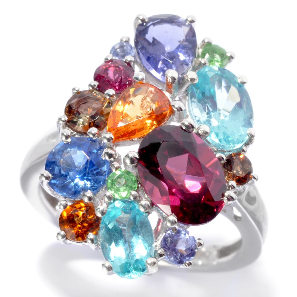 "136-212 - NYC II 4.23ctw ""The Ites"" Scattered Multi Gemstone Ring"