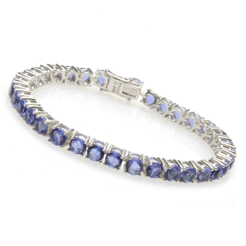136-253 - Gem Insider Sterling Silver 12.06ctw Color Change Fluorite Tennis Bracelet
