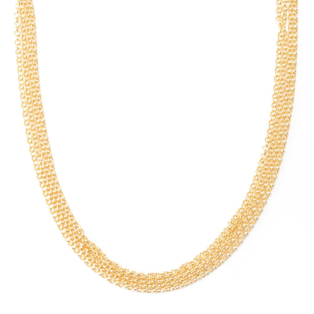 136-274 - Portofino Gold Embraced™ Four-Strand Rolo Link Necklace