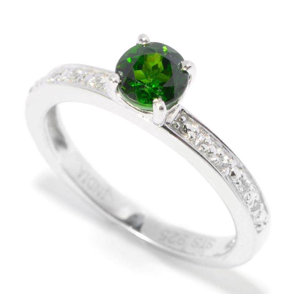 136-310 - NYC II Multi Shaped Gemstone & White Zircon Stack Band Ring