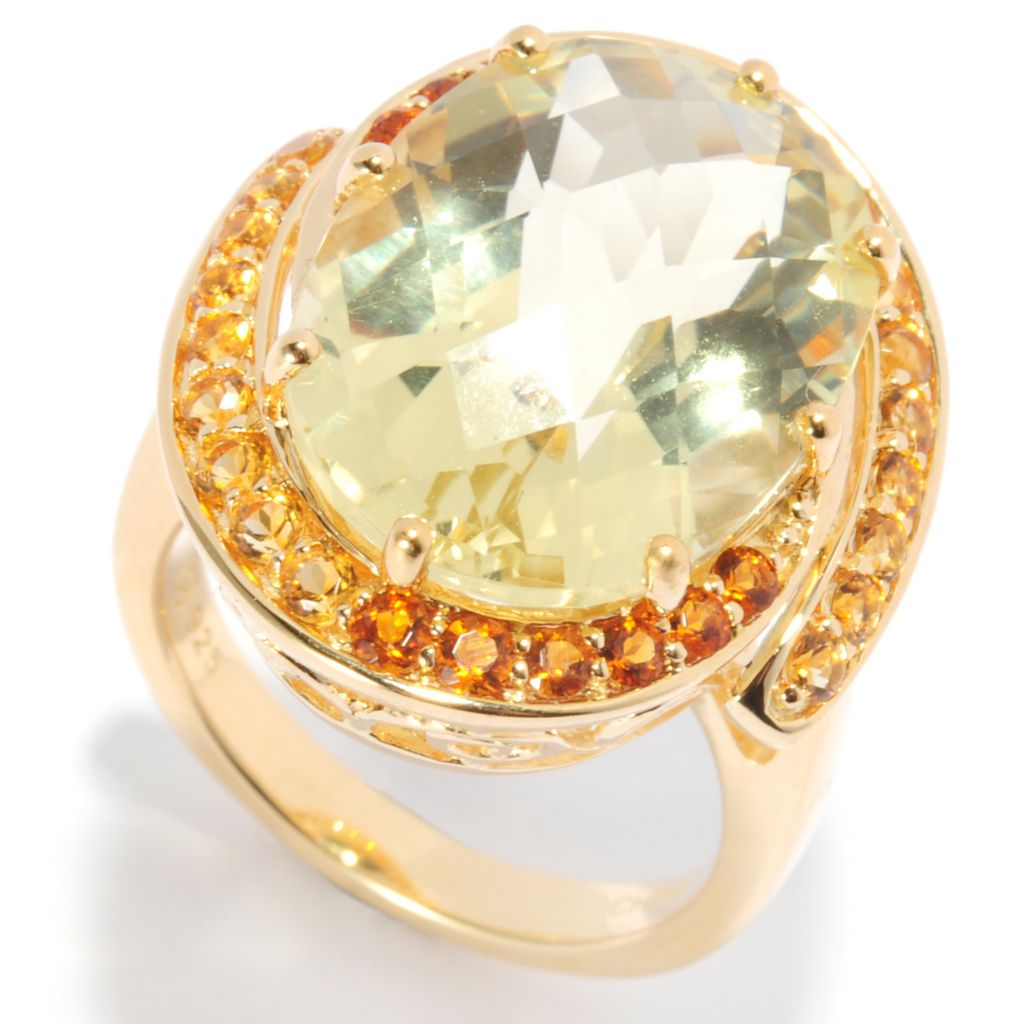 136-315 - NYC II 10.17ctw Lima Quartz & Multi Citrine Ring