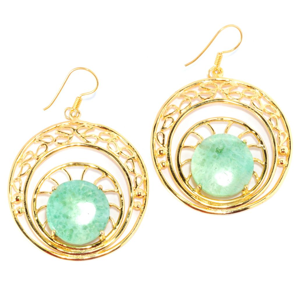 "136-351 - Sattriya™ 2.25"" 17mm Drusy Agate Cut-out Circle Drop Earrings"