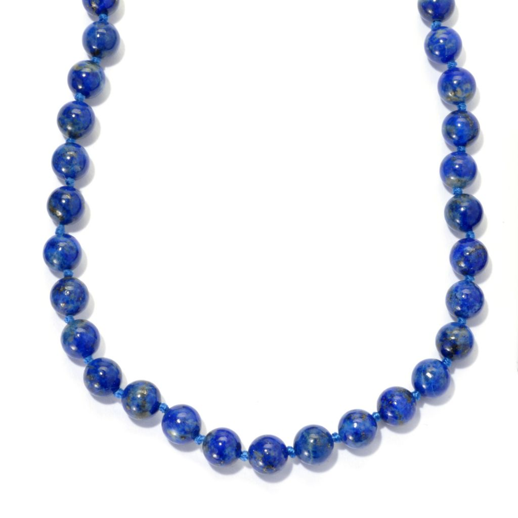 "136-361 - Gems en Vogue 20"" Lapis Bead Toggle Necklace"