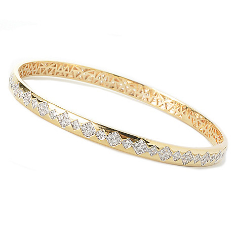 136-446 - Brilliante® Argyle Design Brilliant Cut Simulated Diamond Bangle Bracelet