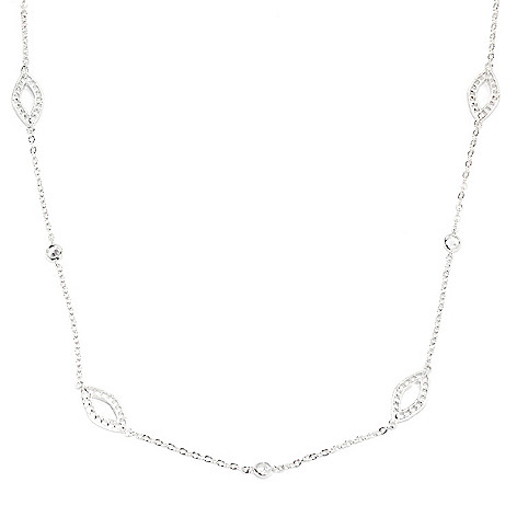 136-494 - Brilliante® 36'' 2.25 DEW Simulated Diamond & Marquise Shaped Station Necklace