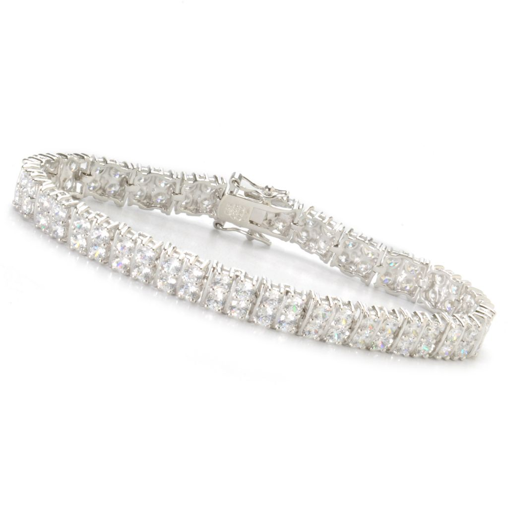 "136-511 - Sonia Bitton Platinum Embraced™ 7.25"" 10.12 DEW Brilliant Cut Tennis Bracelet"