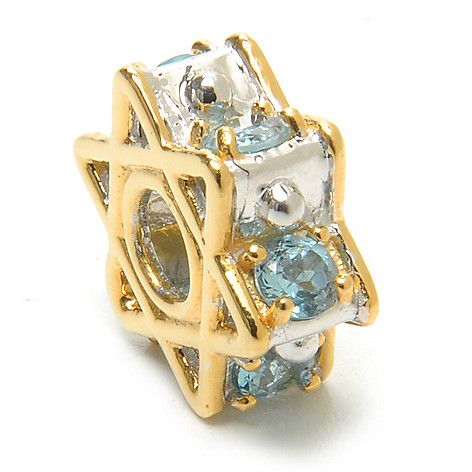 136-550 - Gems en Vogue II Swiss Blue Topaz Star of David Slide-on Charm
