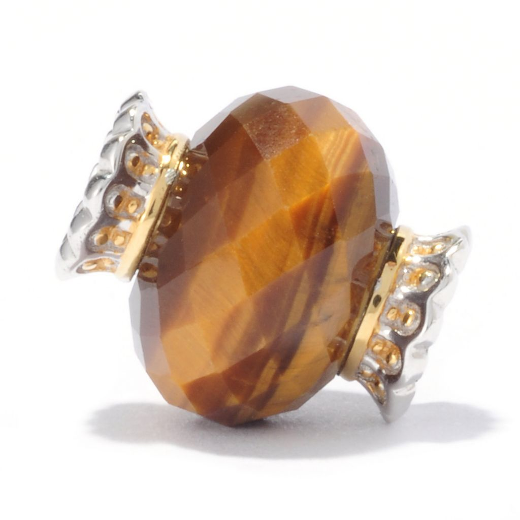 136-551 - Gems en Vogue II 13 x 9mm Tiger's Eye Slide-on Charm