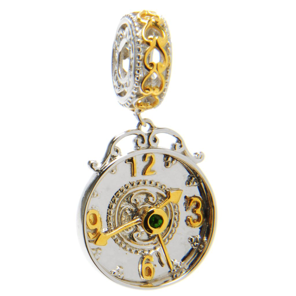 136-558 - Gems en Vogue II Chrome Diopside Clock Drop Charm