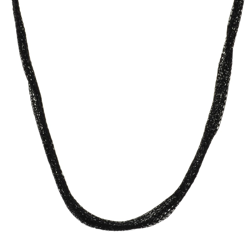 136-567 - JOYA by Judy Crowell Titanium Mesh Necklace