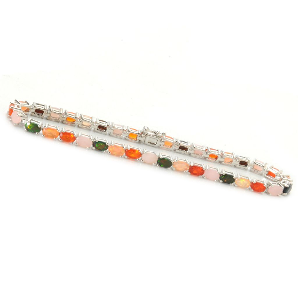 "136-569 - NYC II 7.25"" 6.24ctw Multi Color Opal Tennis Bracelet"