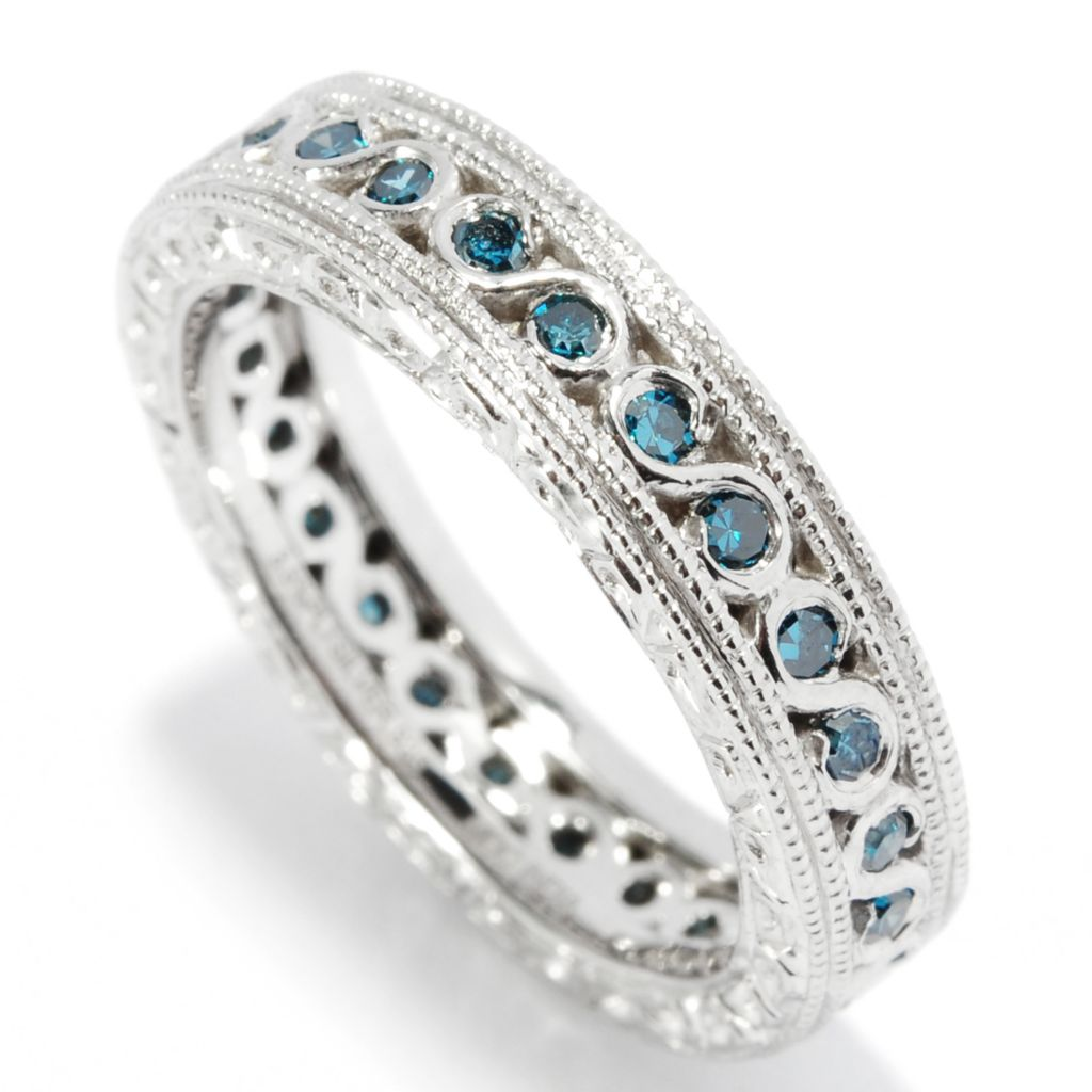 136-593 - Ultimate Silver™ 0.35ctw Diamond Scrollwork Eternity Band Ring