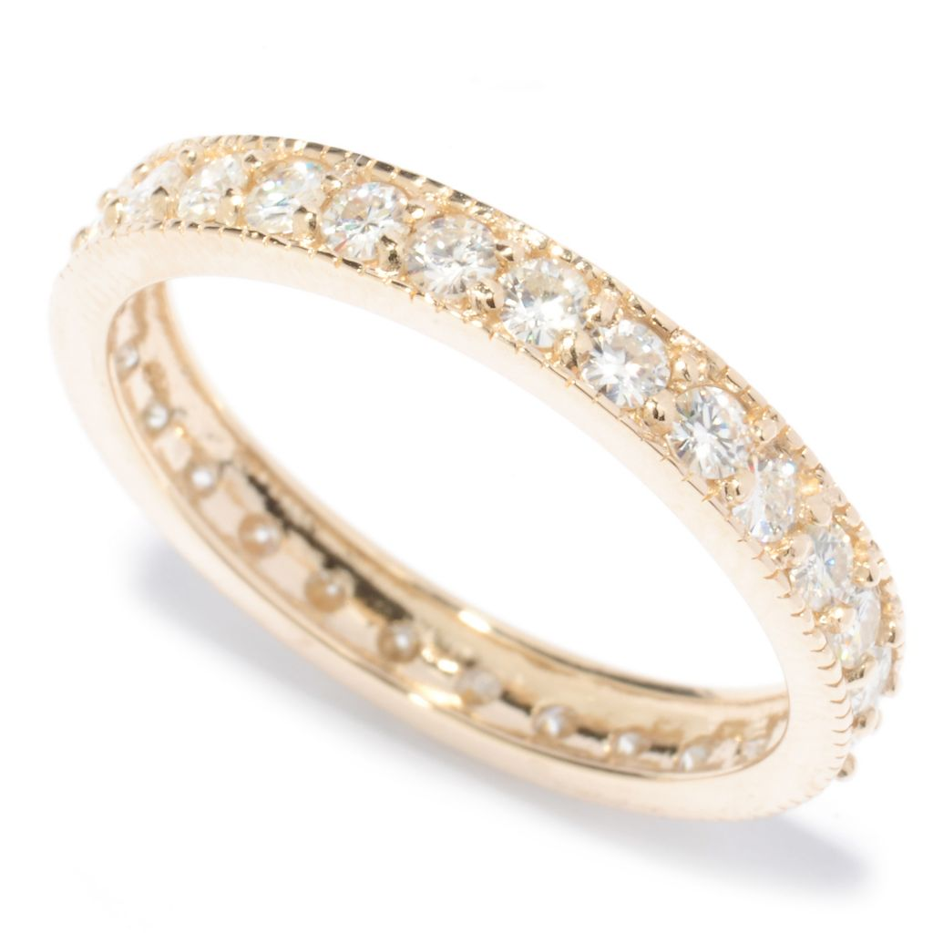 136-716 - Forever Brilliant® Moissanite 14K Gold Round Cut Eternity Band Ring