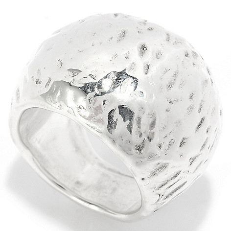 136-754 - Statements by Passage to Israel Sterling Silver Hammered Dome Ring