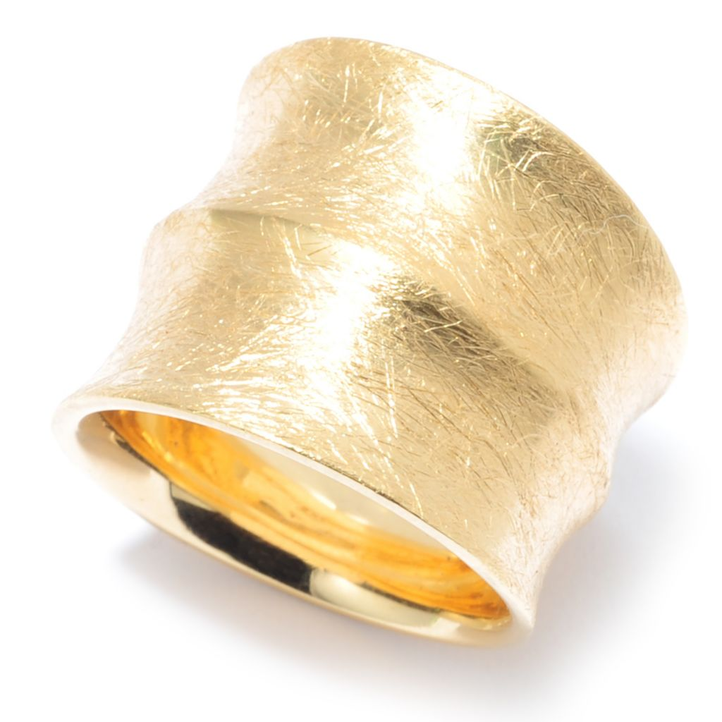136-779 - Toscana Italiana 18K Gold Embraced™ Textured Elongated Ring