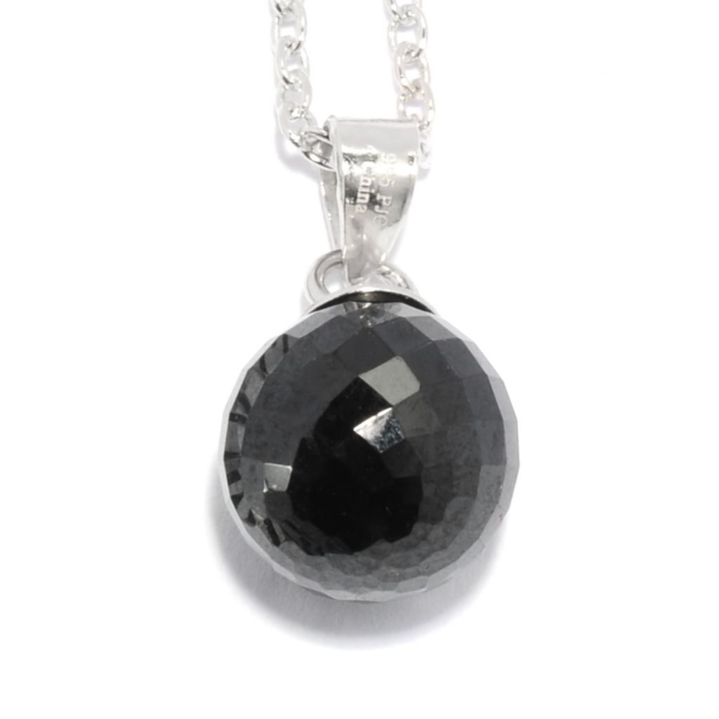 136-788 - Gem Treasures Sterling Silver 4.00ctw Spinel Glitterball Pendant w/ Chain