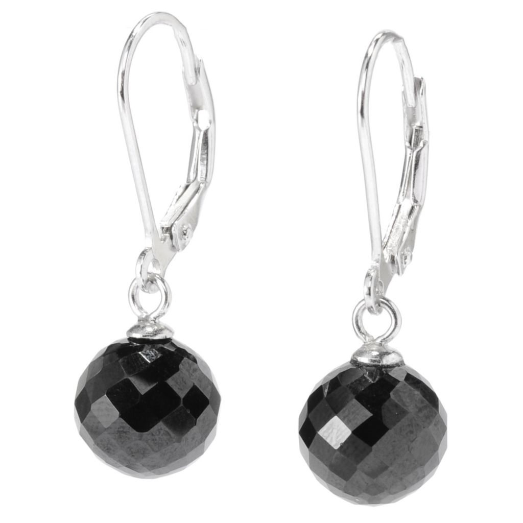 "136-789 - Gem Treasures Sterling Silver 1"" 8.00ctw Gemstone Spinel Glitterball Drop Earrings"