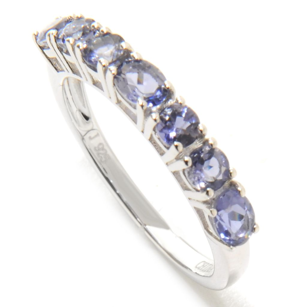 136-809 - Gem Insider Sterling Silver Gemstone Stack Band Ring