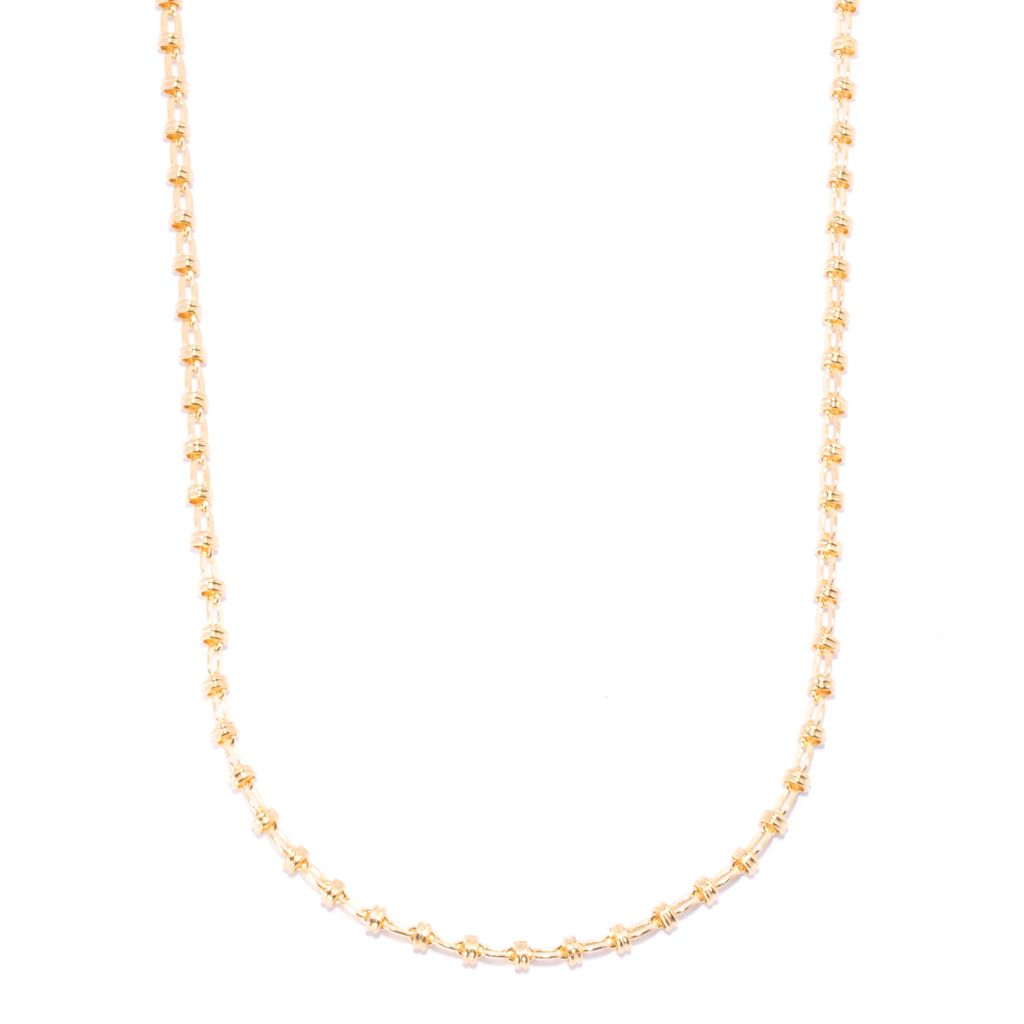 136-844 - Portofino 18K Gold Embraced™ Polished Fancy Link Necklace