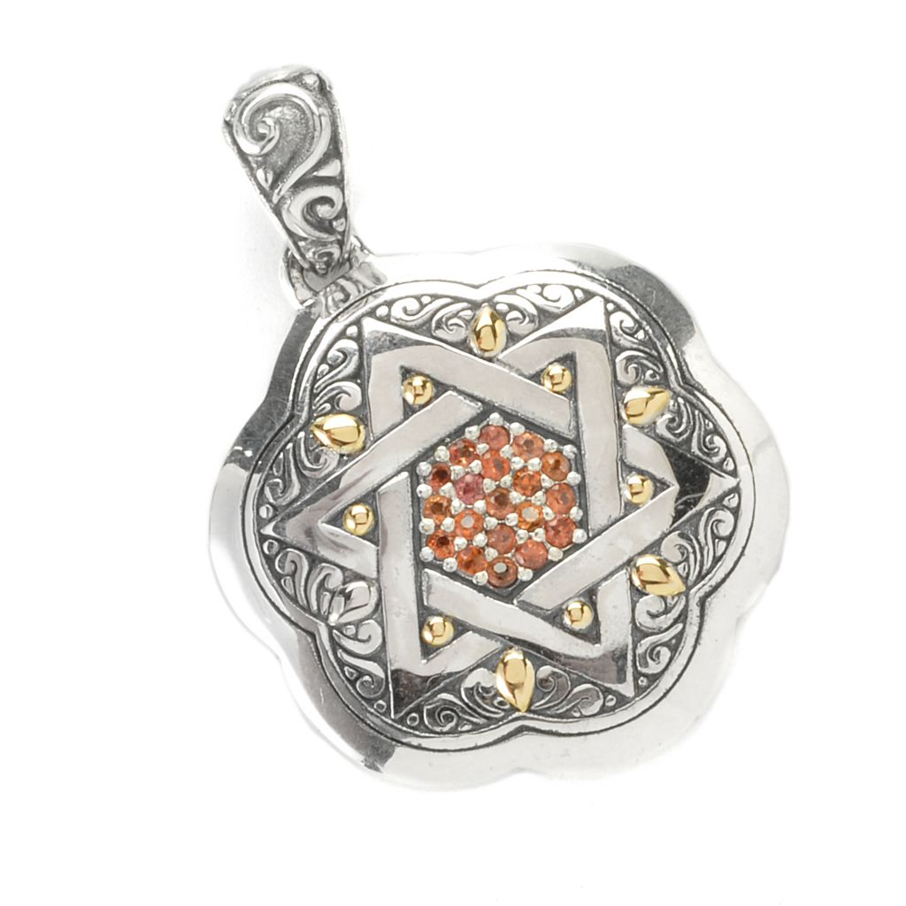 136-854 - Artisan Silver by Samuel B. Gemstone Star of David Pendant