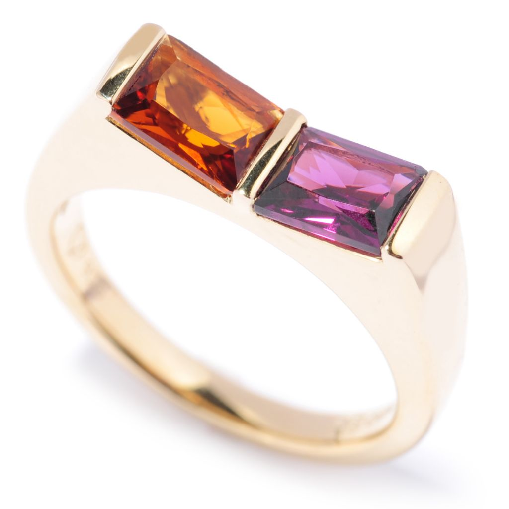 136-990 - Omar Torres Baguette Gemstone Duo Polished Ring