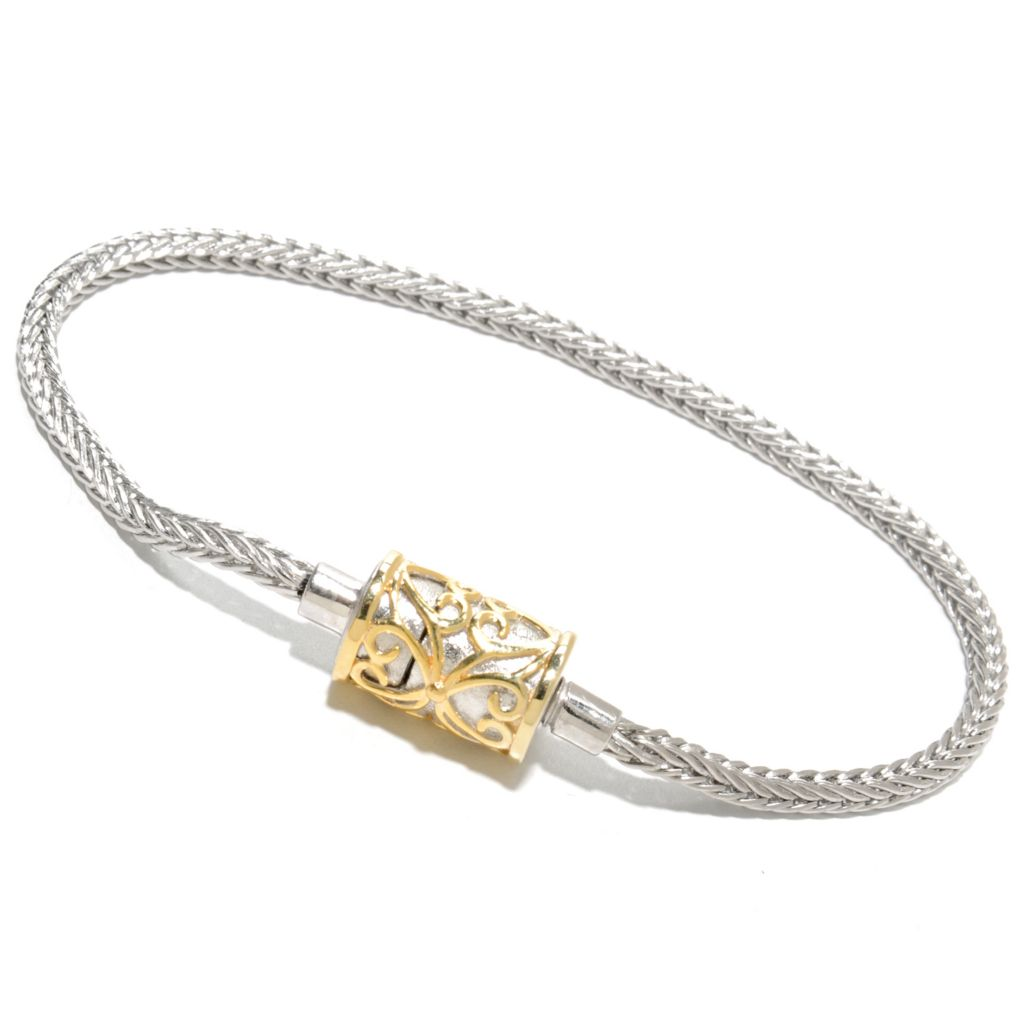 137-019 - Gems en Vogue Wheat Chain Bracelet w/ Twist-off Magnetic Clasp