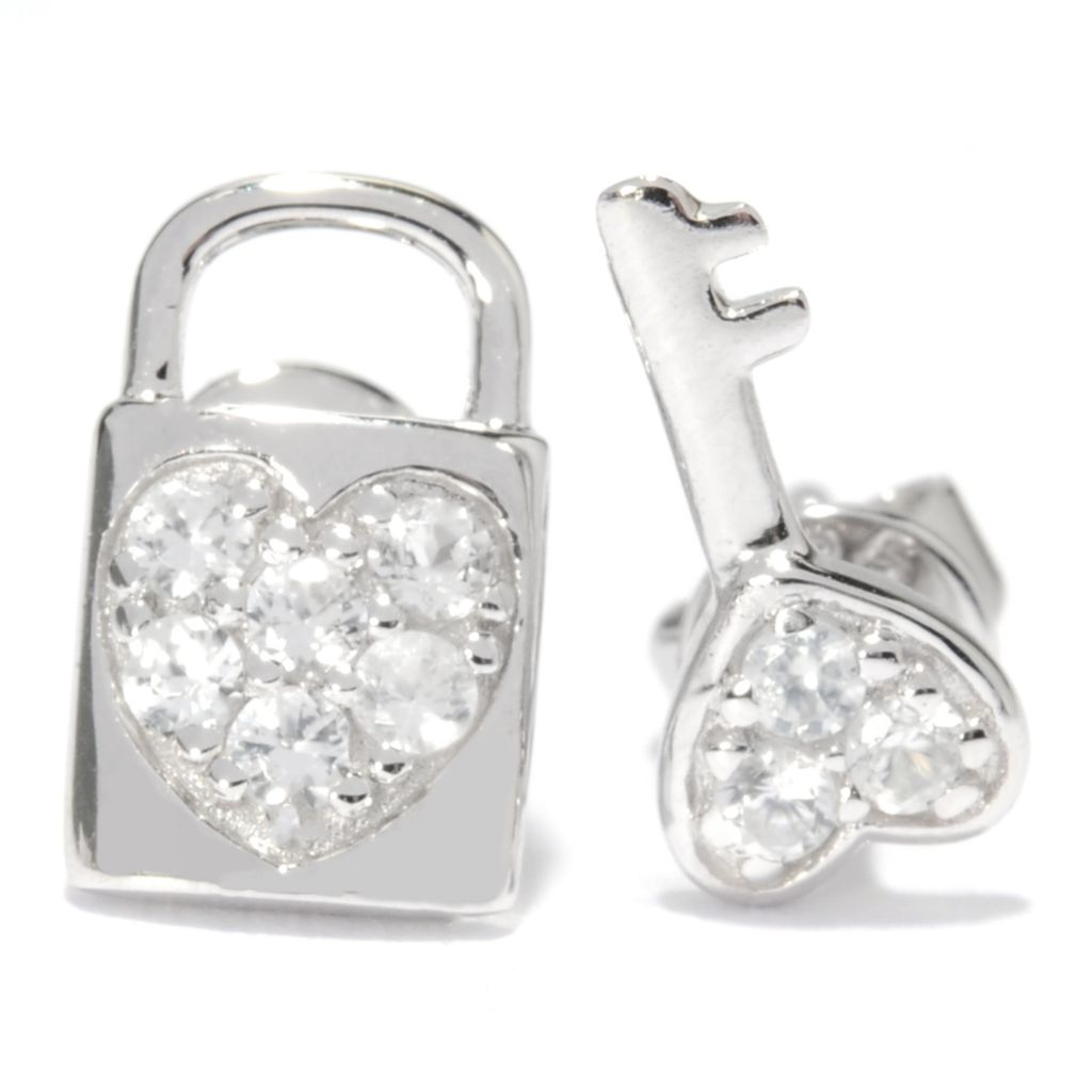 137-045 - NYC II White Zircon Coordinating Symbol Stud Earrings