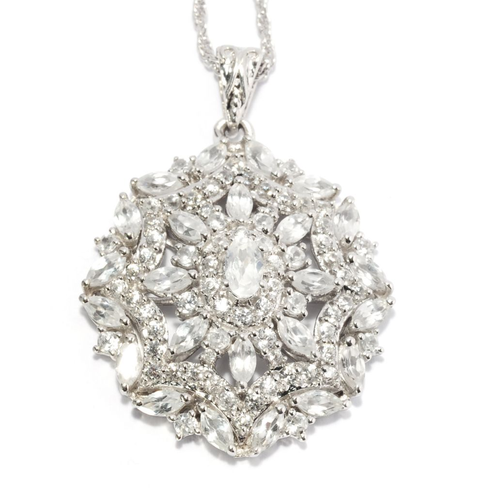 "137-089 - NYC II 4.35ctw White Zircon Medallion Pendant w/ 18"" Chain"