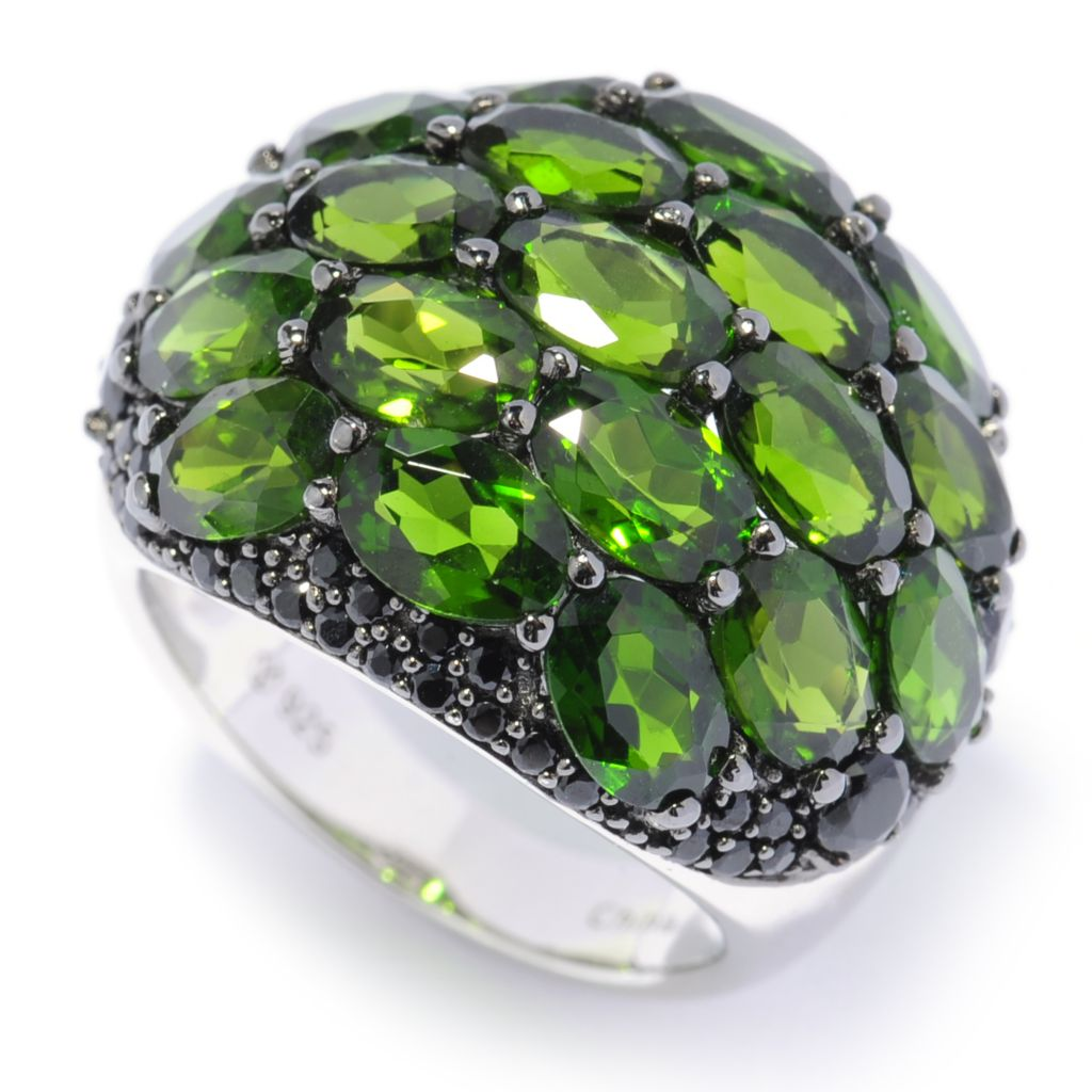 137-094 - Gem Treasures Sterling Silver 5.80ctw Spinel & Chrome Diopside Dome Ring