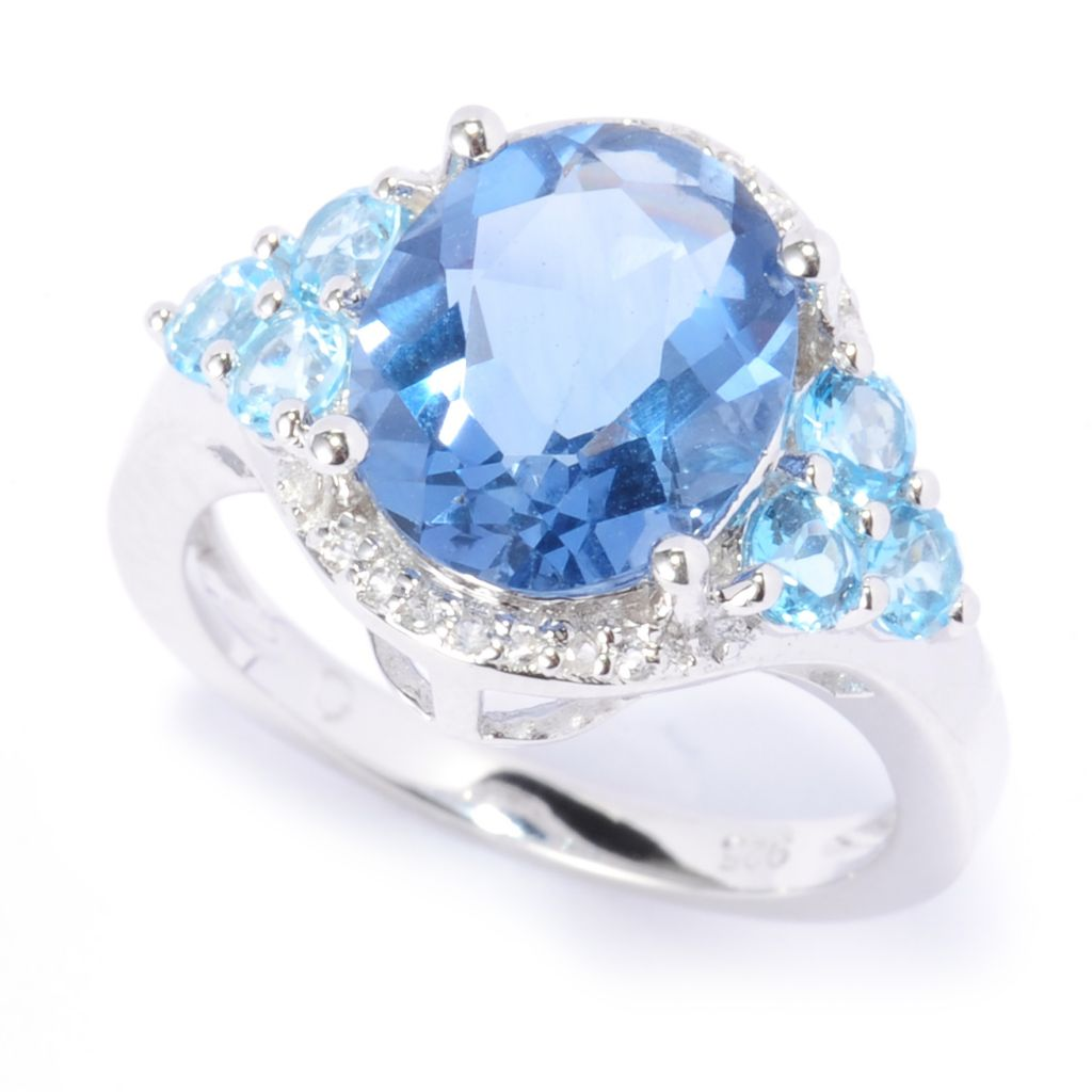 137-141 - Gem Insider Sterling Silver 4.24ctw Color Change Fluorite & Multi Topaz Ring