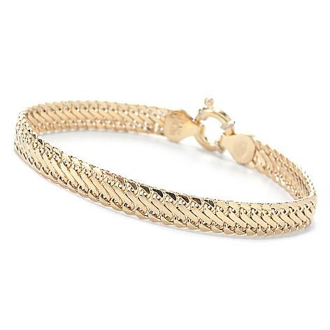 137-150 - Viale18K® Italian Gold 7.5'' Saduza Bracelet, 7.3 grams