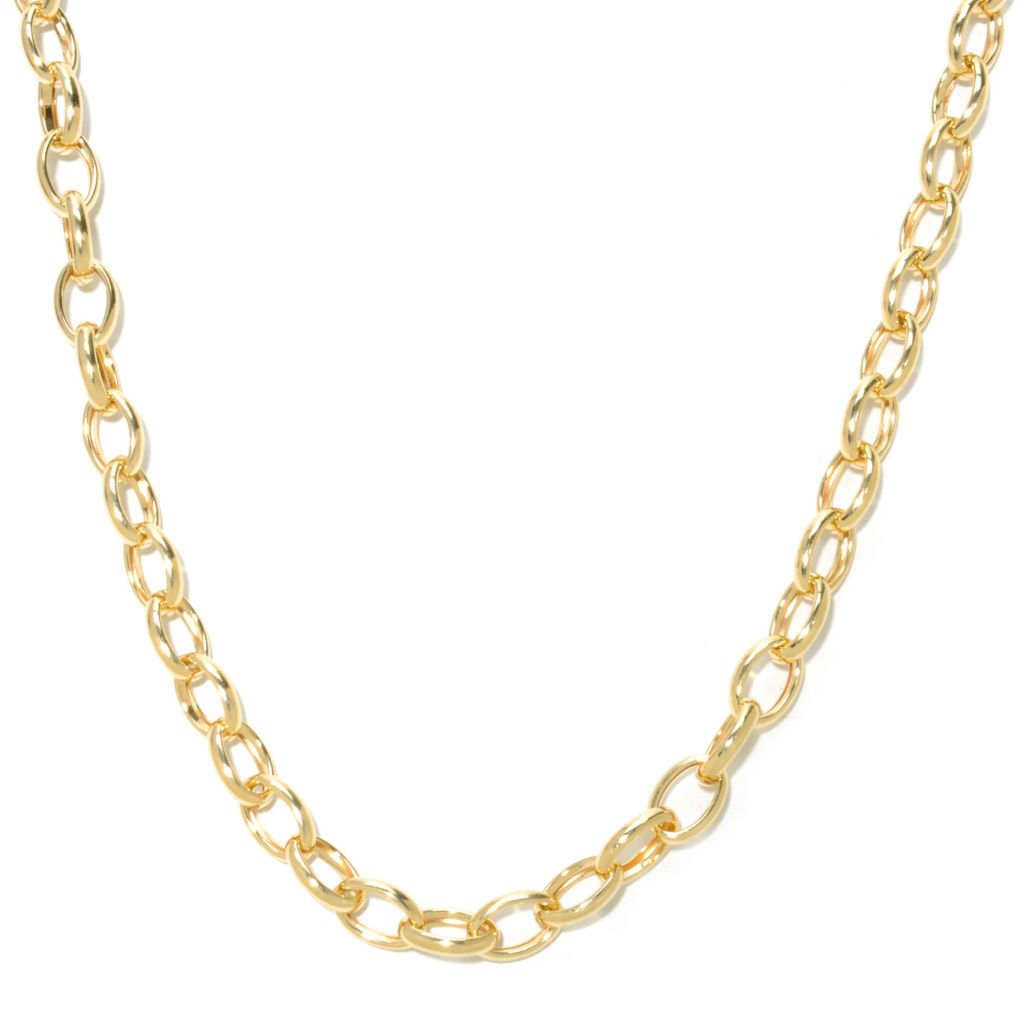 "137-153 - Viale18K® Italian Gold 18"" Oval Link Necklace, 11.8 grams"
