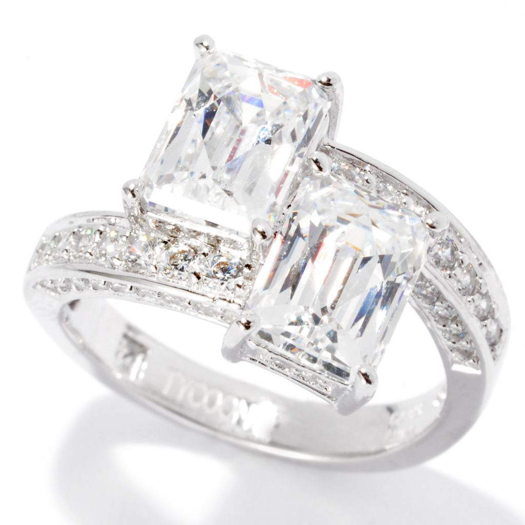 137-217 - TYCOON Platinum Embraced™ 4.00 DEW TYCOON CUT Simulated Diamond Ring