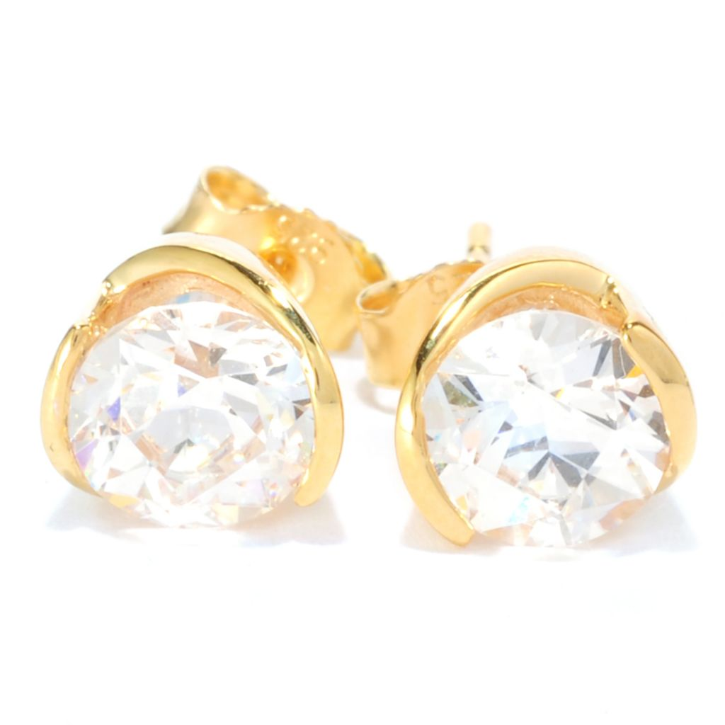 137-219 - TYCOON 3.10 DEW Round TYCOON CUT Simulated Diamond Stud Earrings