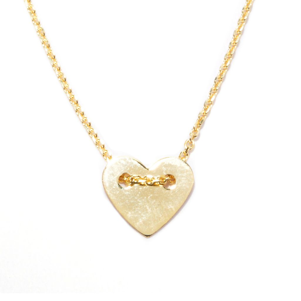 "137-249 - Italian Designs with Stefano 18"" 14K Gold Heart Necklace, 1.37 grams"
