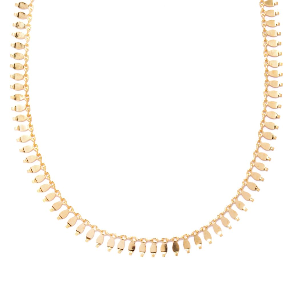 "137-261 - Italian Designs with Stefano 18"" 14K Gold Polished Petali Necklace, 4.27 grams"