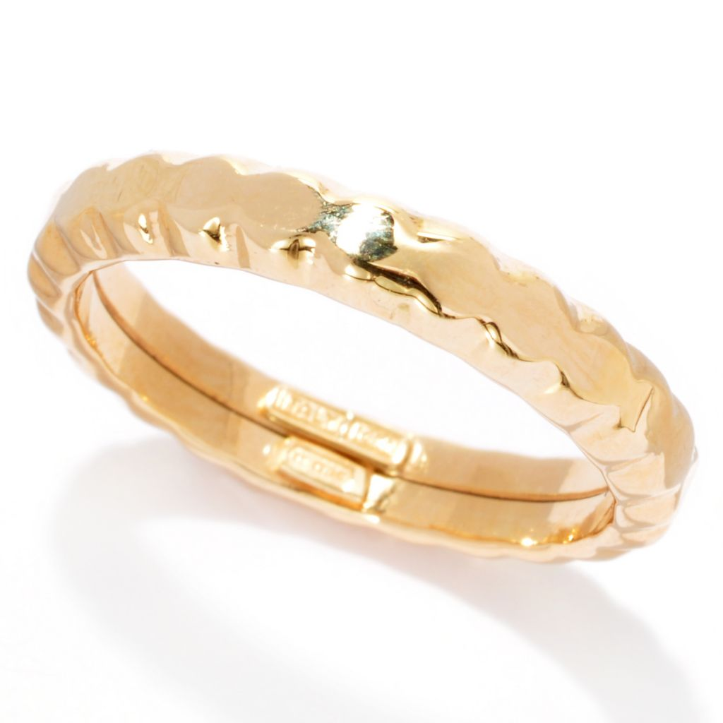 137-274 - Italian Designs with Stefano 14K Gold Polished & Scalloped Fancy Band Ring