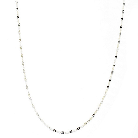 137-283 - Italian Designs with Stefano Platinum Polished Clover Necklace