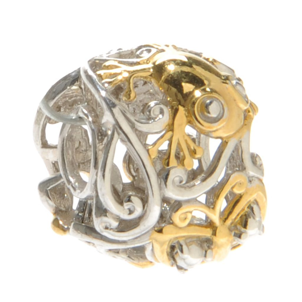 137-352 - Gems en Vogue Two-Tone Critter Scrollwork Slide-on Charm