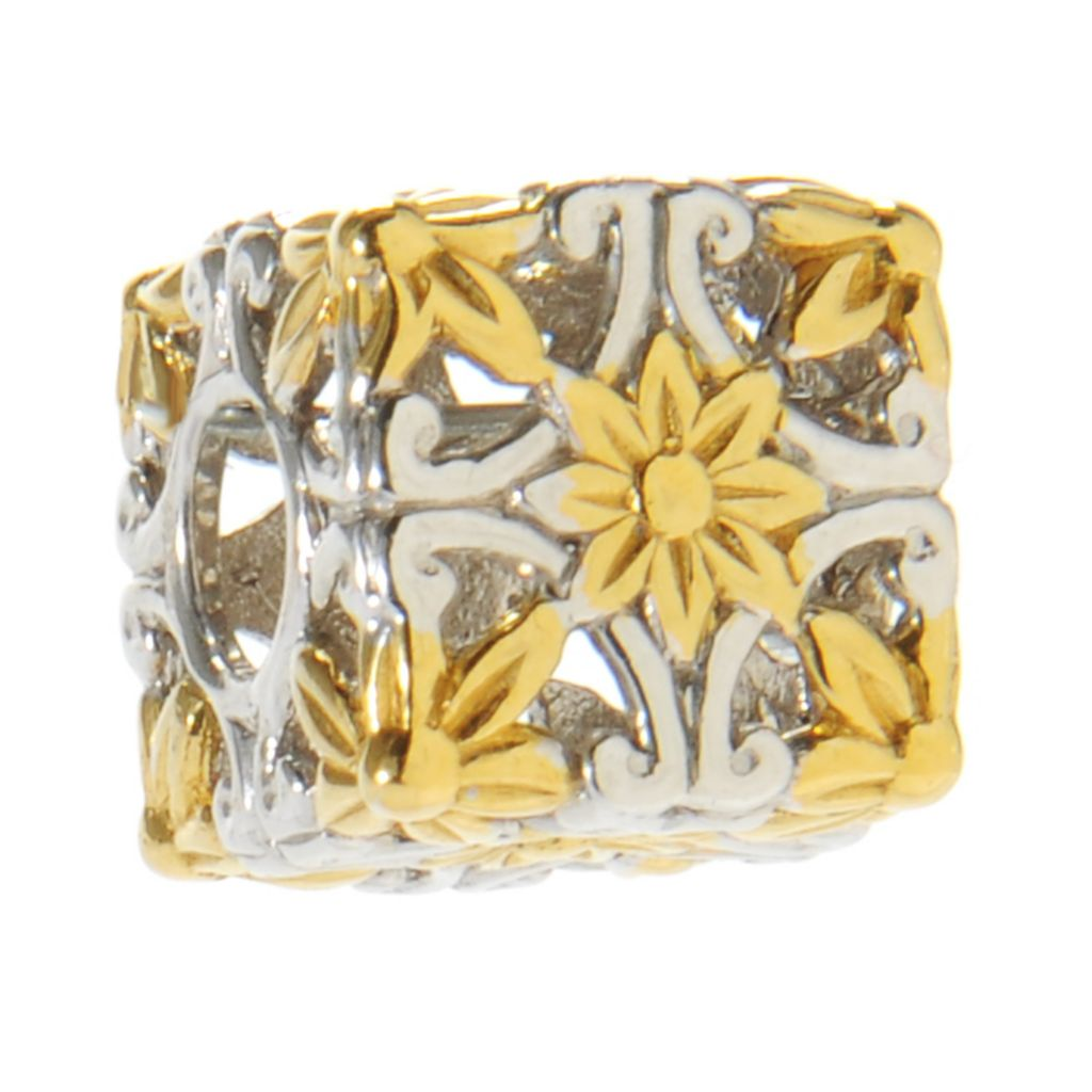 137-355 - Gems en Vogue II Scrollwork Cube Slide-on Charm