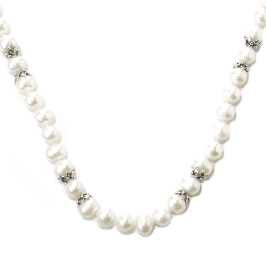 "137-383 - Dallas Prince Designs 38"" Sterling Silver 10-11mm Freshwater Cultured Pearl Toggle Necklace"