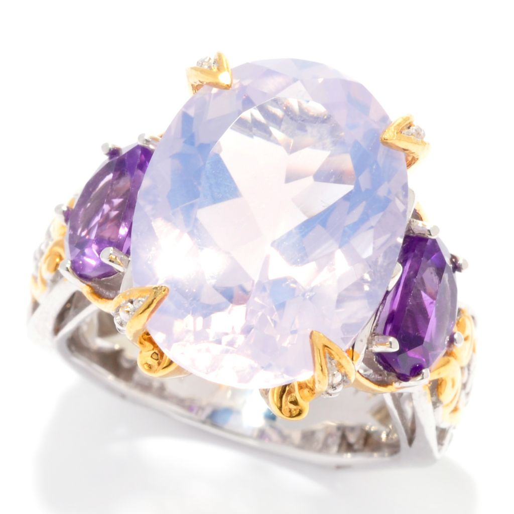 137-402 - Gems en Vogue II 10.22ctw Oval Lune de France Amethyst Ring