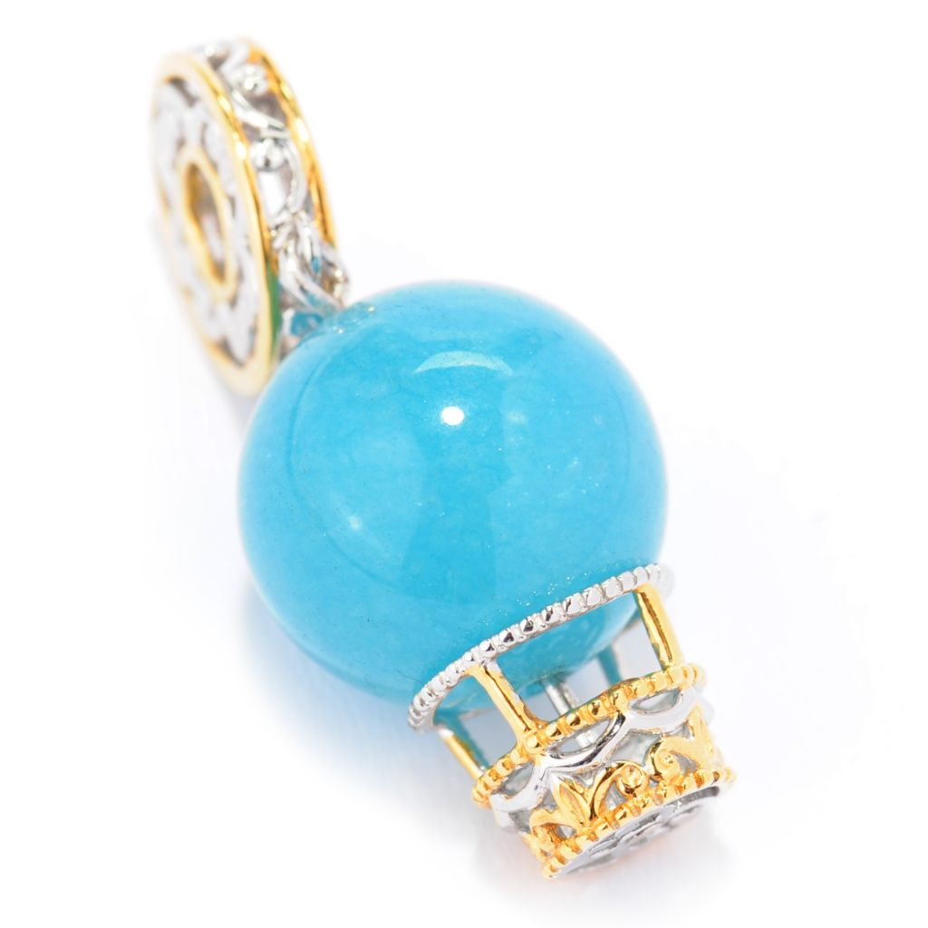 137-419 - Gems en Vogue 14mm Aquamarine Hot Air Balloon Drop Charm