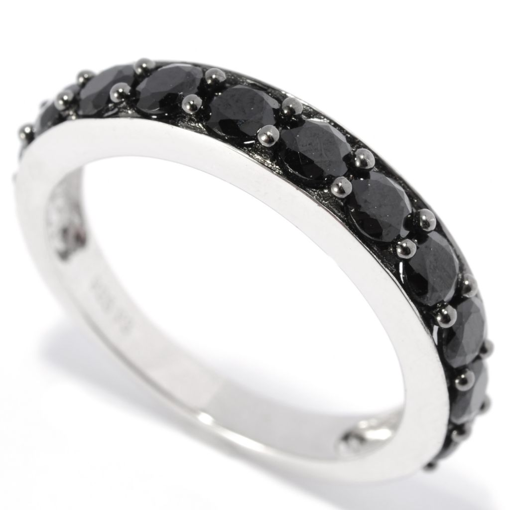 137-467 - Gem Treasures Sterling Silver 1.38ctw Black Spinel Band Ring