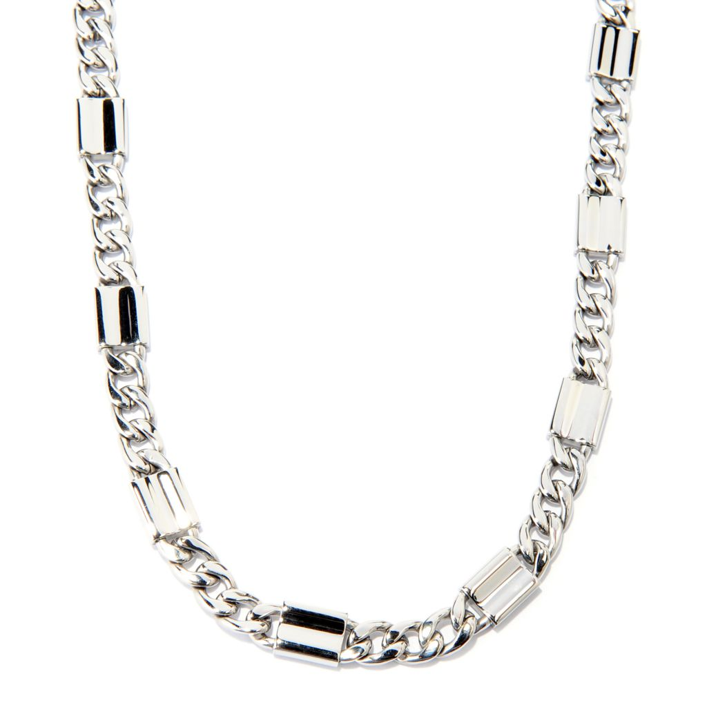 "137-543 - Steel Impact Men's Stainless Steel 24"" Curb Link Chain Necklace"