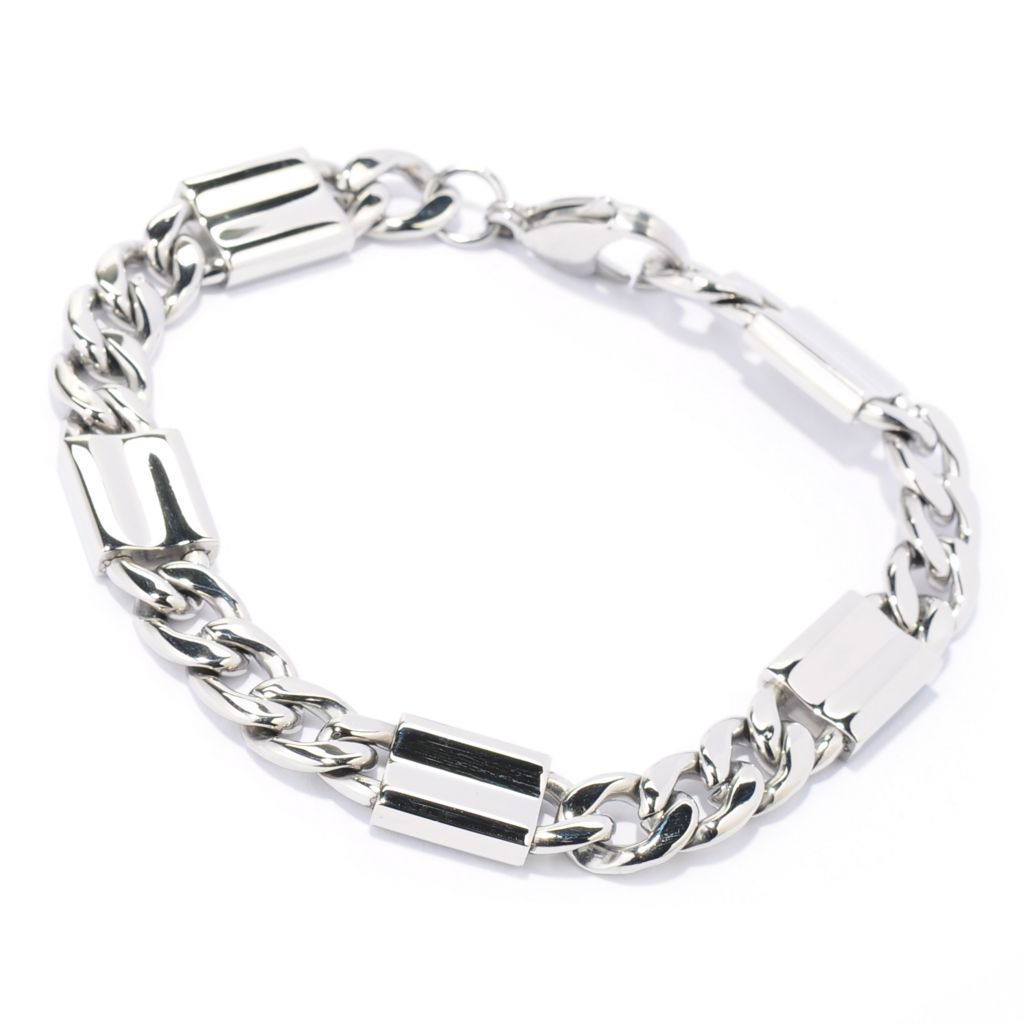 "137-544 - Steel Impact™ Men's Stainless Steel 8.5"" Curb Link Chain Bracelet"