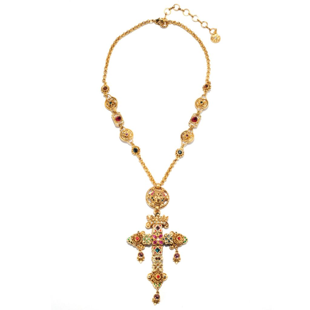 "137-601 - Sweet Romance™ 20"" Multi Crystal Renaissance Cross Necklace w/ 3"" Extender"