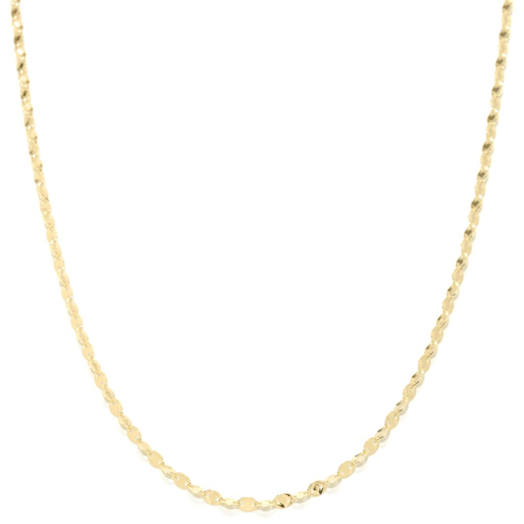 "137-667 - Italian Designs with Stefano 14K Gold Polished ""Stella Oro"" Fancy Chain Necklace"