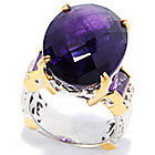 137-689 - Gems en Vogue II 16.70ctw Oval Tanzanian Color Shift Amethyst Ring